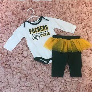 NFL Green Bay Packers 2 Piece Onesie & Leggings